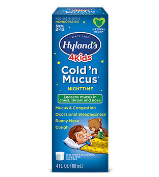 4 Kids Cold N Mucus Nighttime - 4 oz