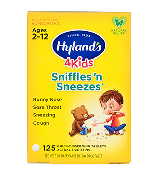 4 Kids Sniffle & Sneezes - 125 Tablets