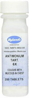 Antimonium Tartaricum 6x - 250 Tablets