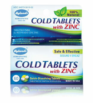 Cold Tablets with Zinc - 50 Tablets