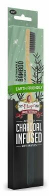 Activated Charcoal Infused Bamboo Toothbrush - 1 ea