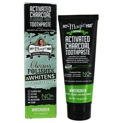 Activated Charcoal Toothpaste Fluoride-Free (Wintergeen) - 4 oz
