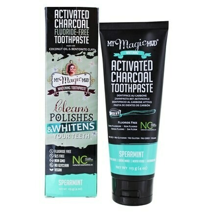 Activated Charcoal Toothpaste Fluoride-Free (Spearmint) - 4 oz