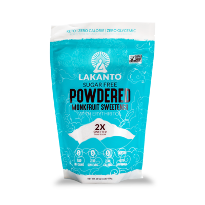 Lakanto Monkfruit Sweetener, Powdered - 16 oz