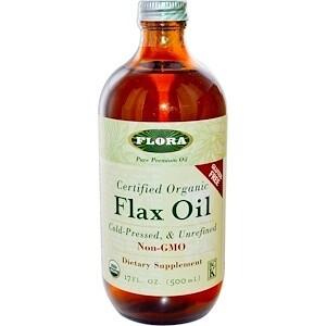 Flax Oil Certified Organic 17 oz - 67902