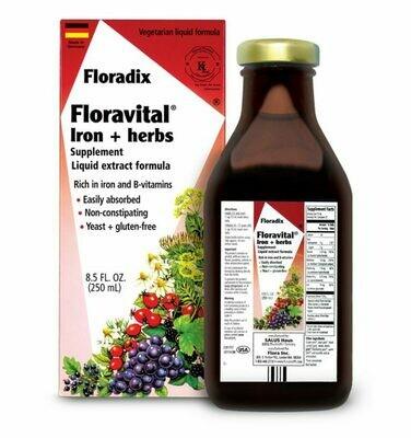 Floravital Iron & Herbs Yeast-Free - 64775 -  8.5 oz.