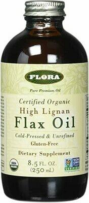 High Lignan Flax Oil Certified Organic 8.5 oz - 67894