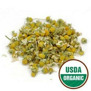 Chamomile Flowers Whole (Egypt) 4 oz. Organic SKU: 209191-04