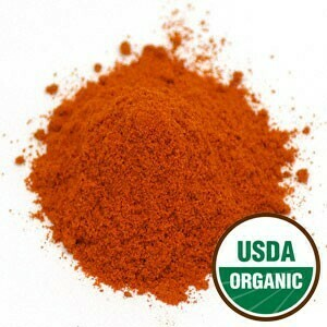 Cayenne Pepper Powder 90K H.U. Pouch Organic SKU: 209748-53 2 oz