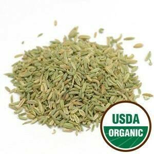 Fennel Seed Pouch SKU: 209835-03 Organic 2 oz