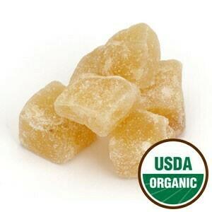 Ginger, Crystalized 3oz. Organic SKU 209849-03