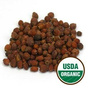 Hawthorn Berries, org, whole, 1 #, Sku: 209349-01