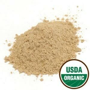 Slippery Elm Bark Pwd, Organic, 1 lb., sku 209578-51
