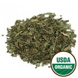 Lemon Balm Leaf C/S 4 oz. Organic SKU: 209395-34