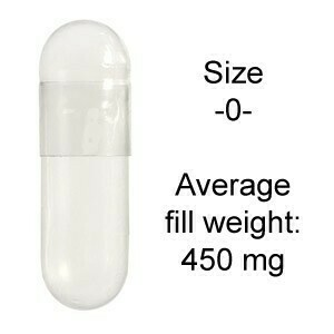 Vegetable Capsules size -0- 500 count SKU: 497100