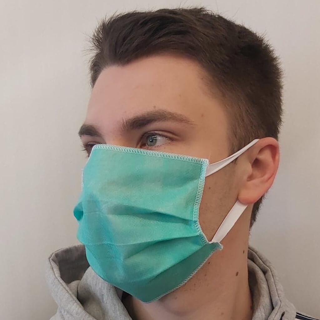 Maska ochronna 3 warstwowa z gumką | 50sztuk |