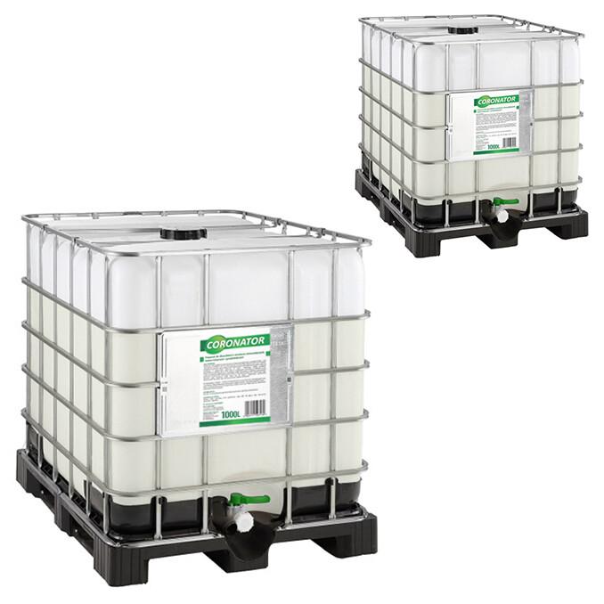 Płyn do dezynfekcji i mycia przestrzeni publicznych CORONATOR | 1000L | Paletopojemnik IBC