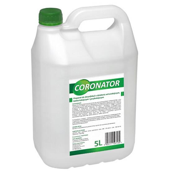 Płyn do dezynfekcji i mycia przestrzeni publicznych CORONATOR | 5L | 108 sztuk(paleta)