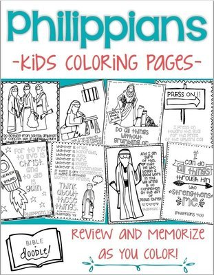 KIDS - Philippians coloring pages for kids
