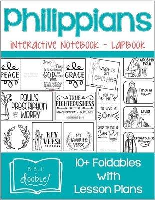 KIDS - Philippians Interactive Notebook Lapbook