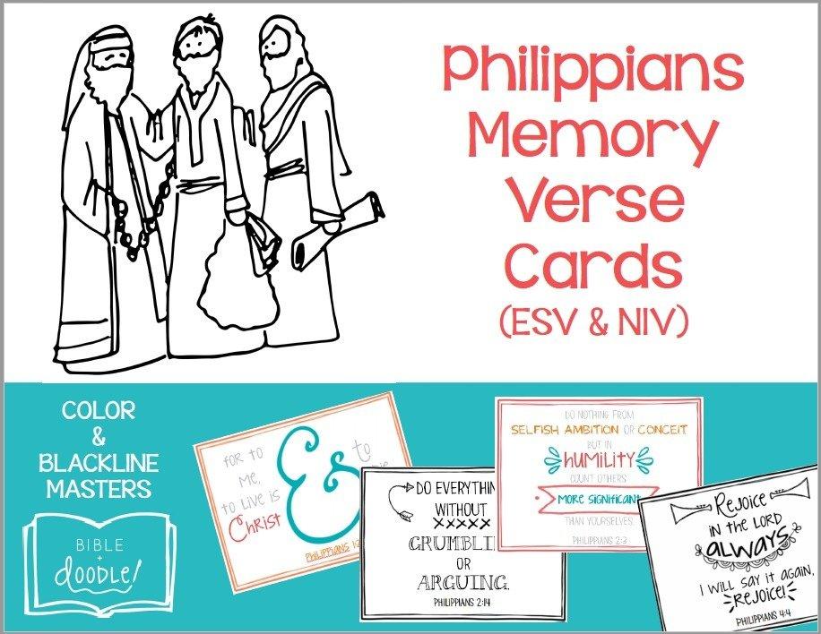KIDS - Philippians Memory Verse Cards