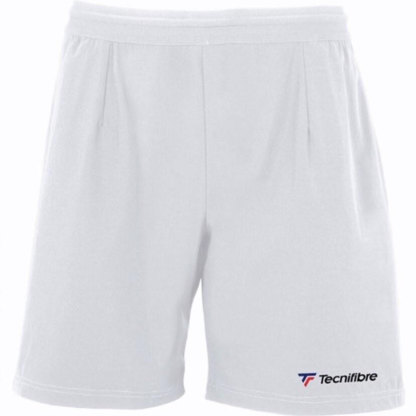Tennis Sommerhose, Tecnifibre Stretch Short, weiss