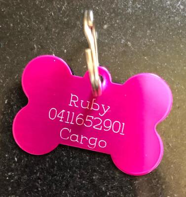 Doggy ID tags Bone Shape