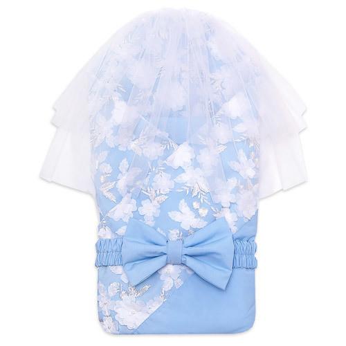 Одеяло на выписку JASMIN, лето, голубой