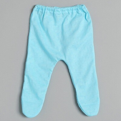 Ползунки на резинке АНТОШКА, летний тонкий трикотаж, голубой