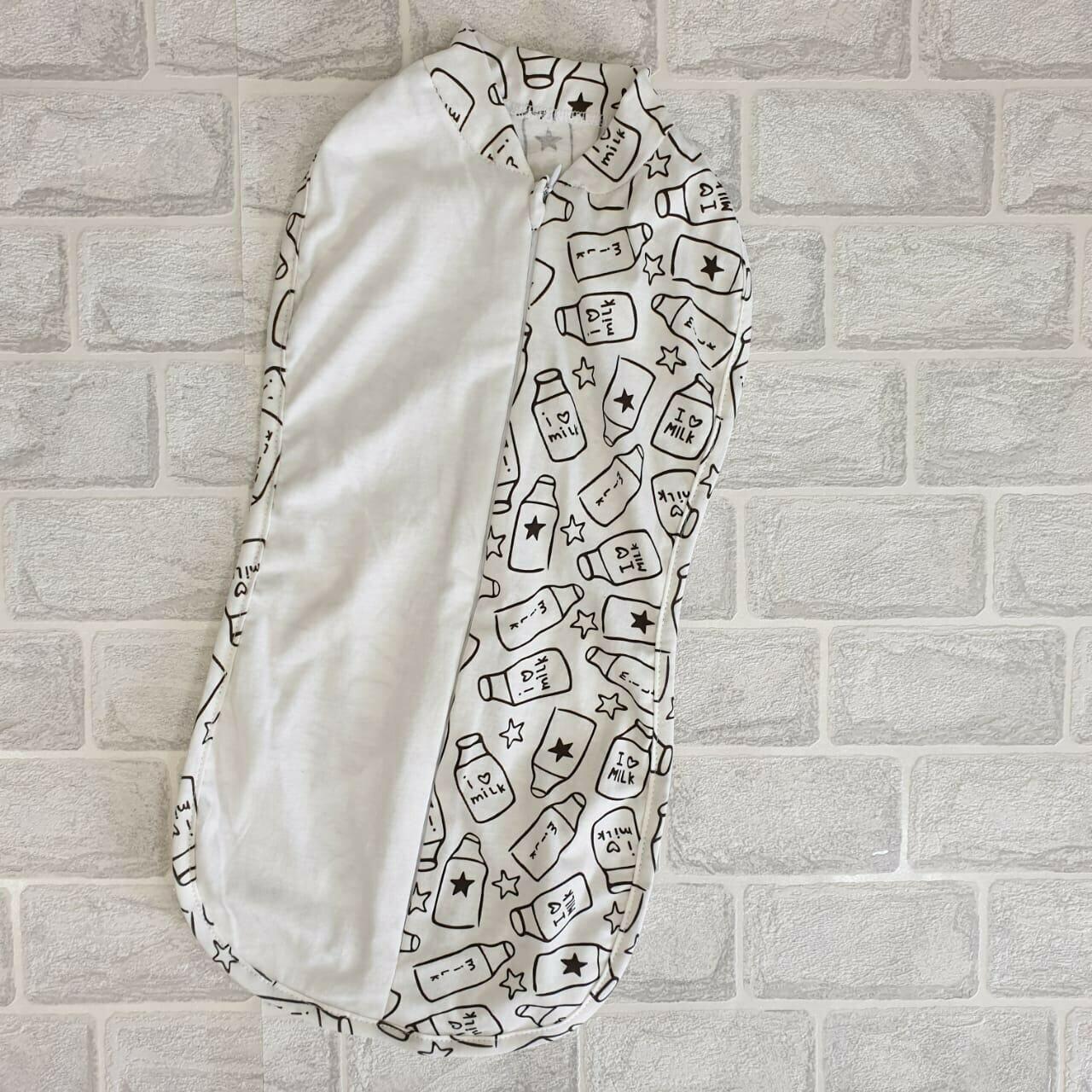 Спальный мешок-кокон, тонкий трикотаж, бутылочки