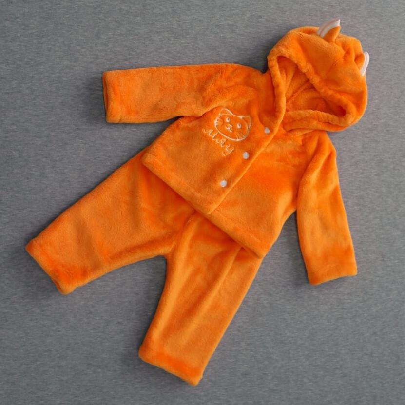 Костюм кофточка и штанишки КОТИК, оранжевый