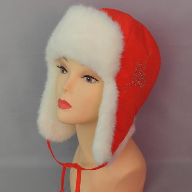 Зимняя шапочка КОРА, красный