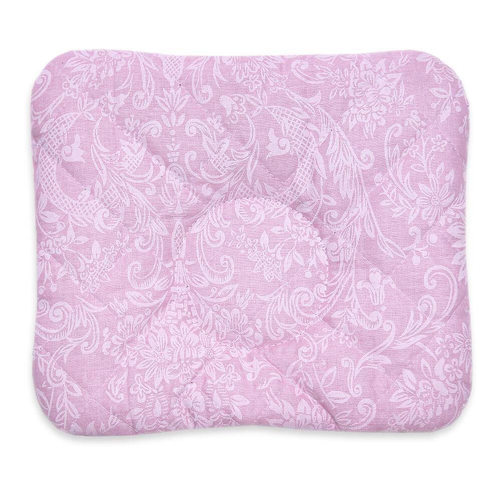Подушка анатомическая стёжка 21*20см, розовый