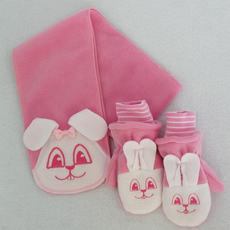 Комплект ЗАЯЦ Д, шарфик и рукавички