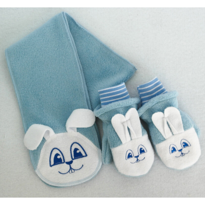 Комплект ЗАЯЦ М, шарфик и рукавички