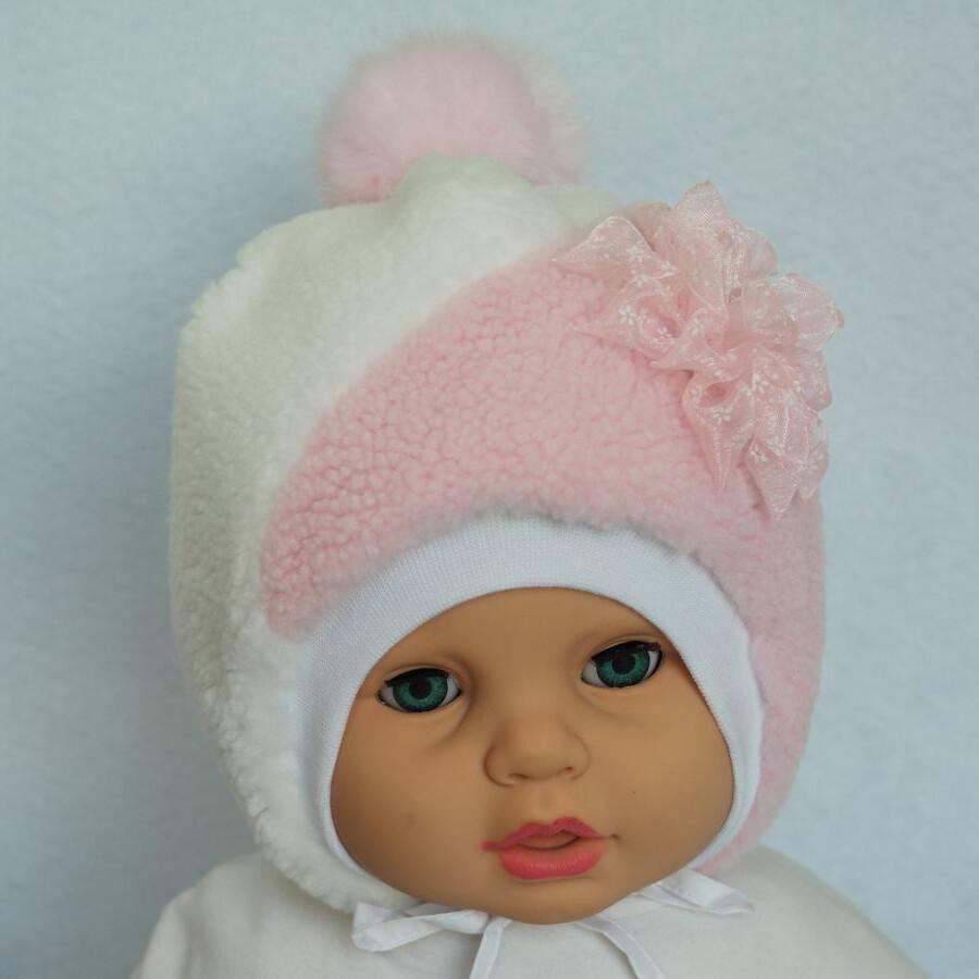 Шапочка Жаннет, зима, светло-розовый