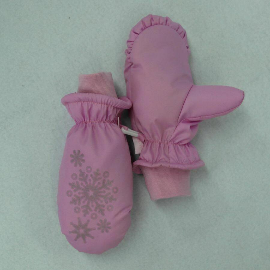 Рукавицы шитые, розовый