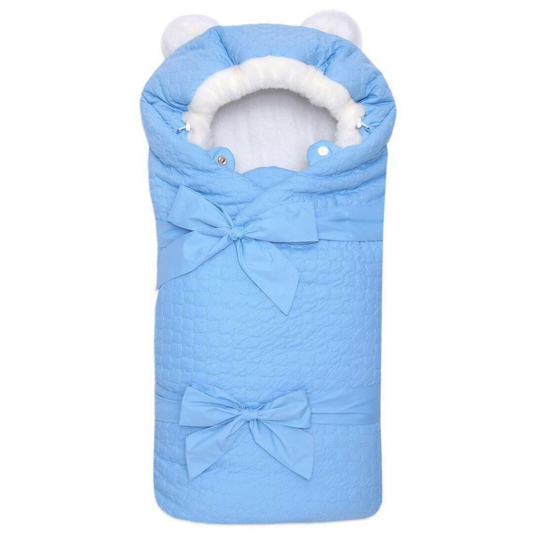 Одеяло на выписку Умка, зима, голубой