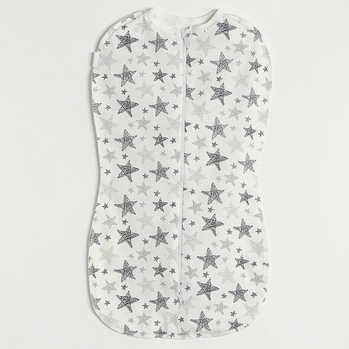 Спальный мешок-кокон, двойная молния, рисованные звезды