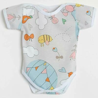 Боди Утёнок, тонкий трикотаж, воздушный шар