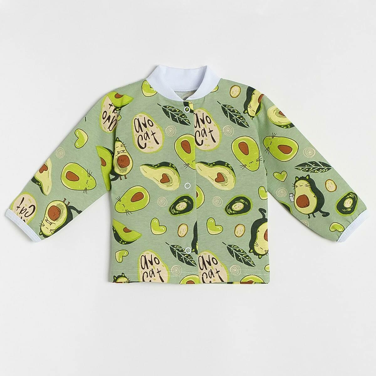 Кофточка Леопольд, тонкий трикотаж, авокадо