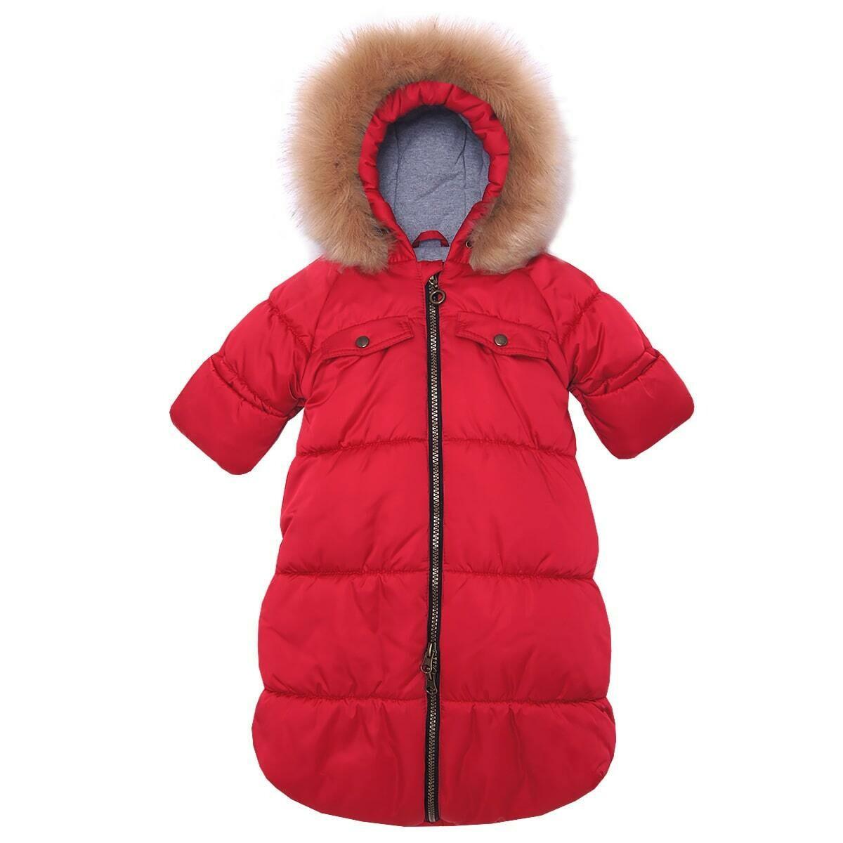 Комбинезон-конверт Аляска, зима, красный