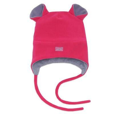 Шапочка утепленная Мышка, демисезон, розовый