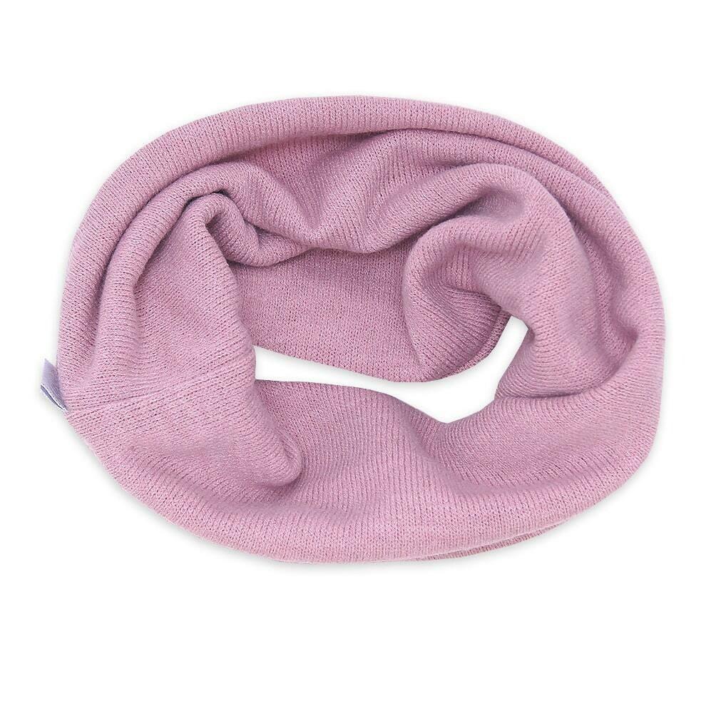 Снуд Киска, зима, розовый