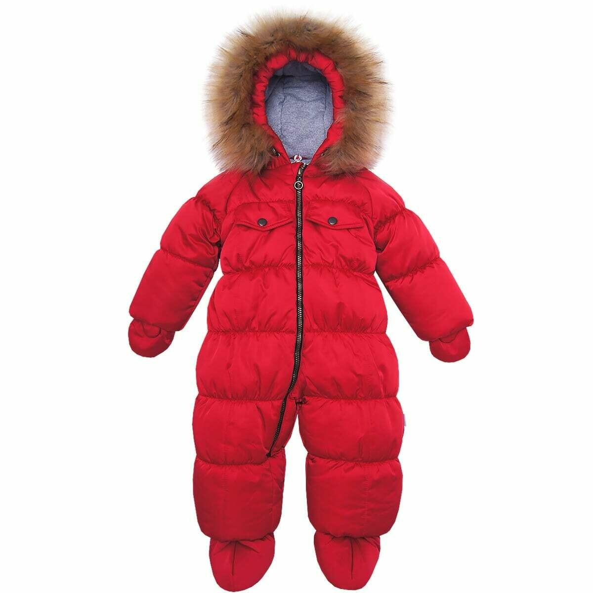 Комбинезон Аляска, зима, красный