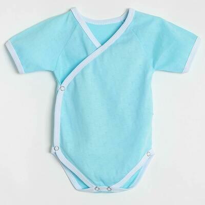 Боди Малышок, летний тонкий трикотаж, голубой