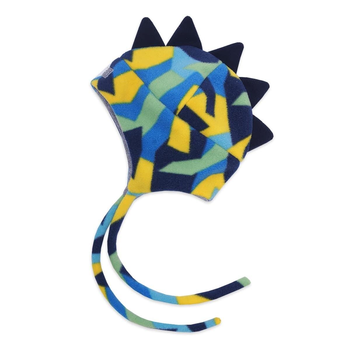 Шапочка DINO, демисезон, сине-жёлтый