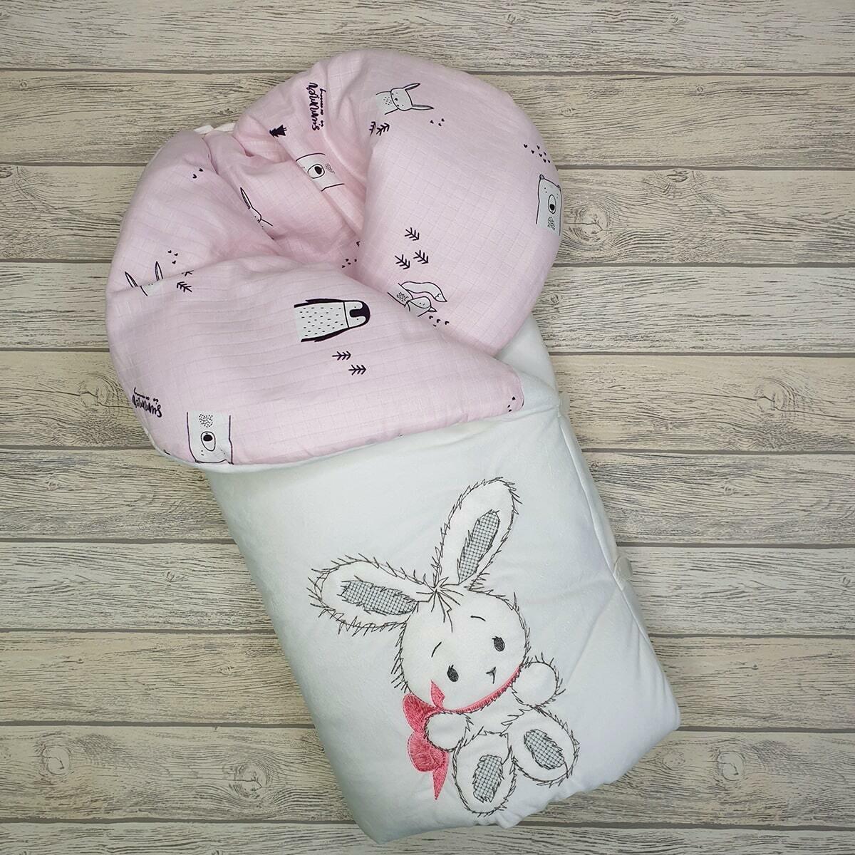 Комплект на выписку Бантик, (деми/зима), розовый