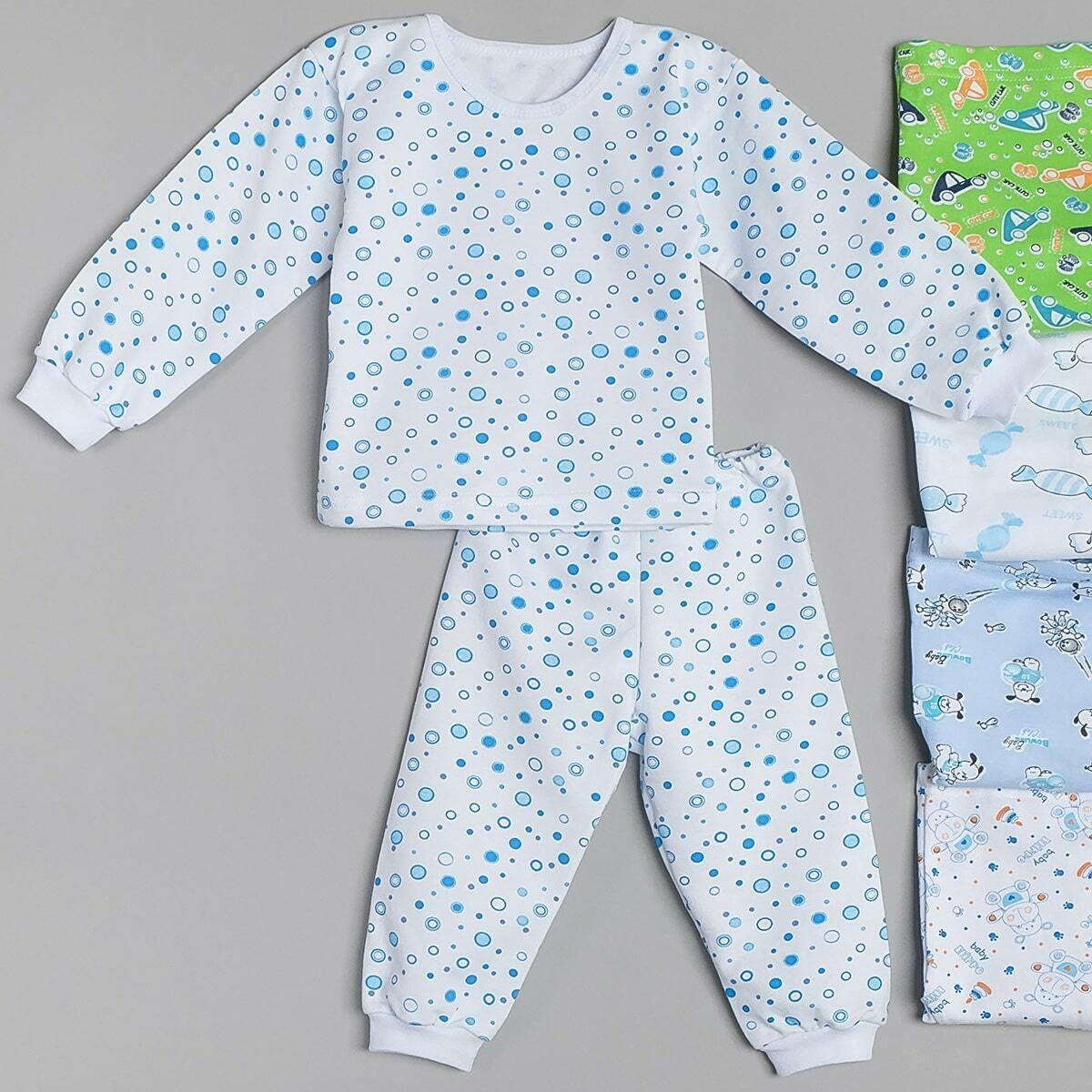 Пижама БЕГЕМОТИК на манжетах, тёплая с начёсом, для мальчика в ассорт.