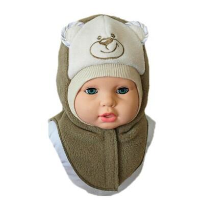 Шапочка-шлем для мальчика УМКА, светло-коричневый